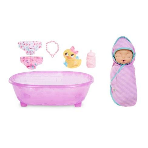 Baby Alive Bath Tub.Baby Born Surprise Bathtub Surprise Purple Swaddle Princess