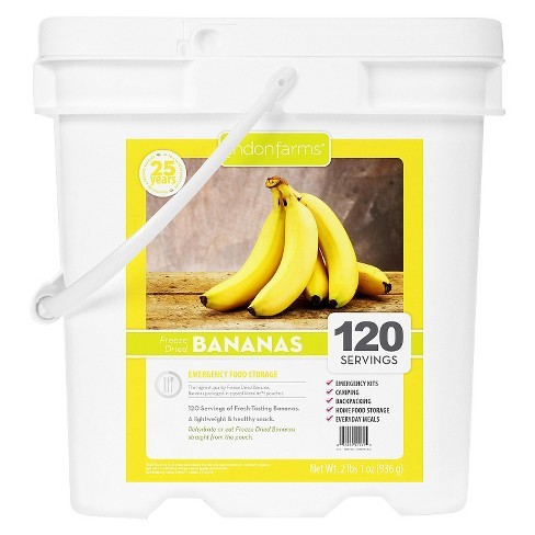 Lindon Farms Emergency Food 120-Serving Freeze Dried Bananas Food Storage Pail - image 1 of 2