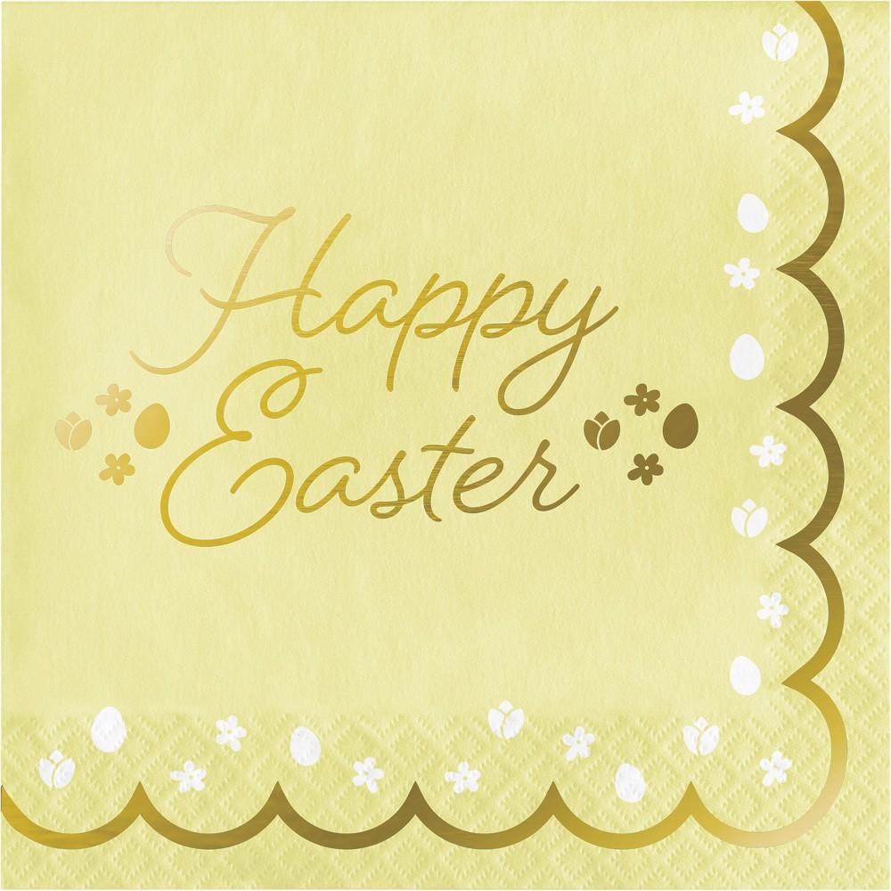 48ct Golden Easter Napkins