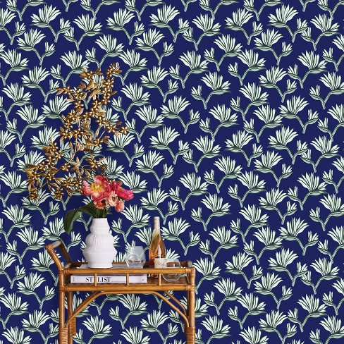 Bird Of Paradise Peel Stick Wallpaper Blue Opalhouse Target