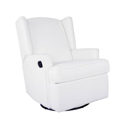 Karla Dubois Hemingway Swivel Accent Chair - White