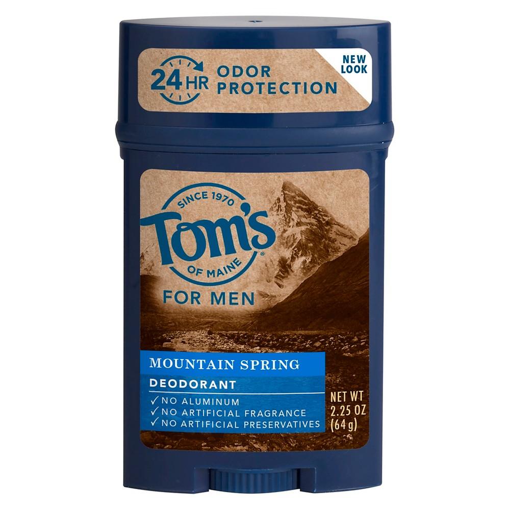 Tom's of Maine Mountain Spring Natural Deodorant Stick for Men - 2.25oz, Off White