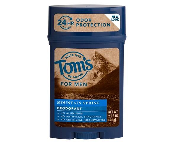Tom's of Maine Mountain Spring Natural Deodorant Stick for Men - 2.25oz