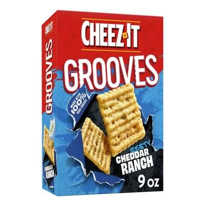 Cheez-It Zesty Cheddar Ranch Grooves Crispy Cracker Chips - 9oz