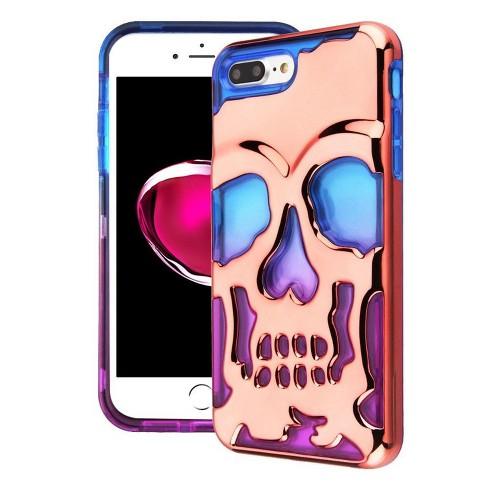 MYBAT For Apple iPhone 7 Plus/8 Plus Blue Purple Skullcap Hard TPU Hybrid Case - image 1 of 2