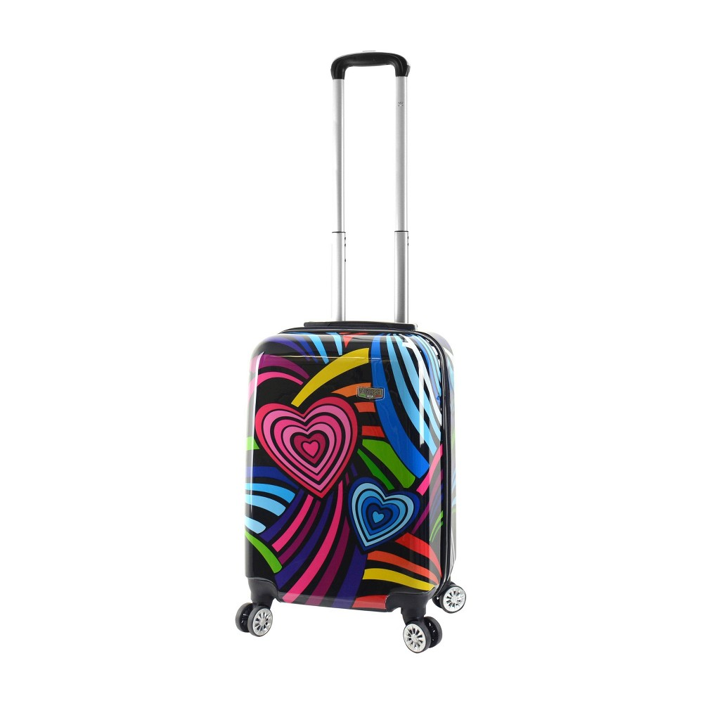"Image of ""Mia Viaggi ITALY 20"""" Hardside Carry On Suitcase - Pop Love, MultiColored"""