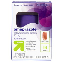 Omeprazole Delayed-Release Acid Reducer - 20mg Tablets - Up&Up™