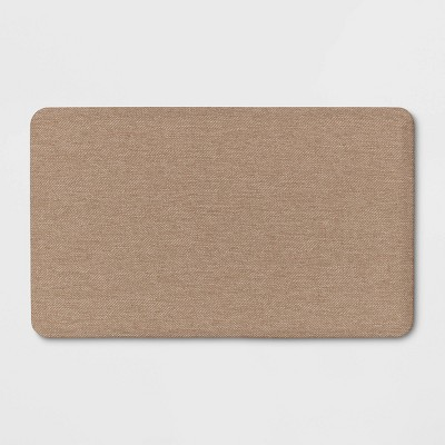 "30""x18"" Linen Comfort Kitchen Mat Brown - Threshold™"