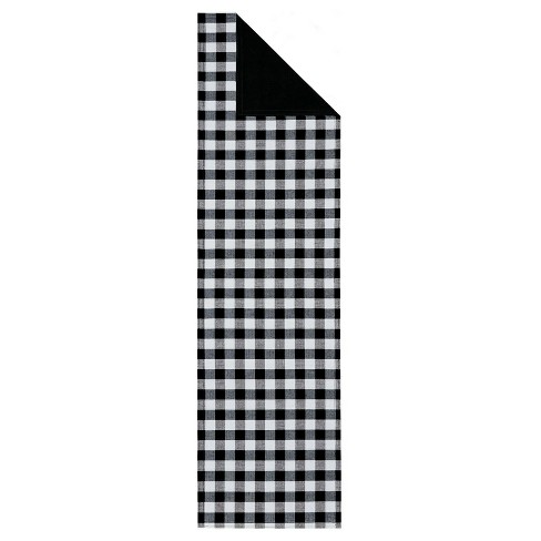 Kate Aurora Country Farmhouse Living Reversible Buffalo Plaid/Solid Table Runners - image 1 of 4