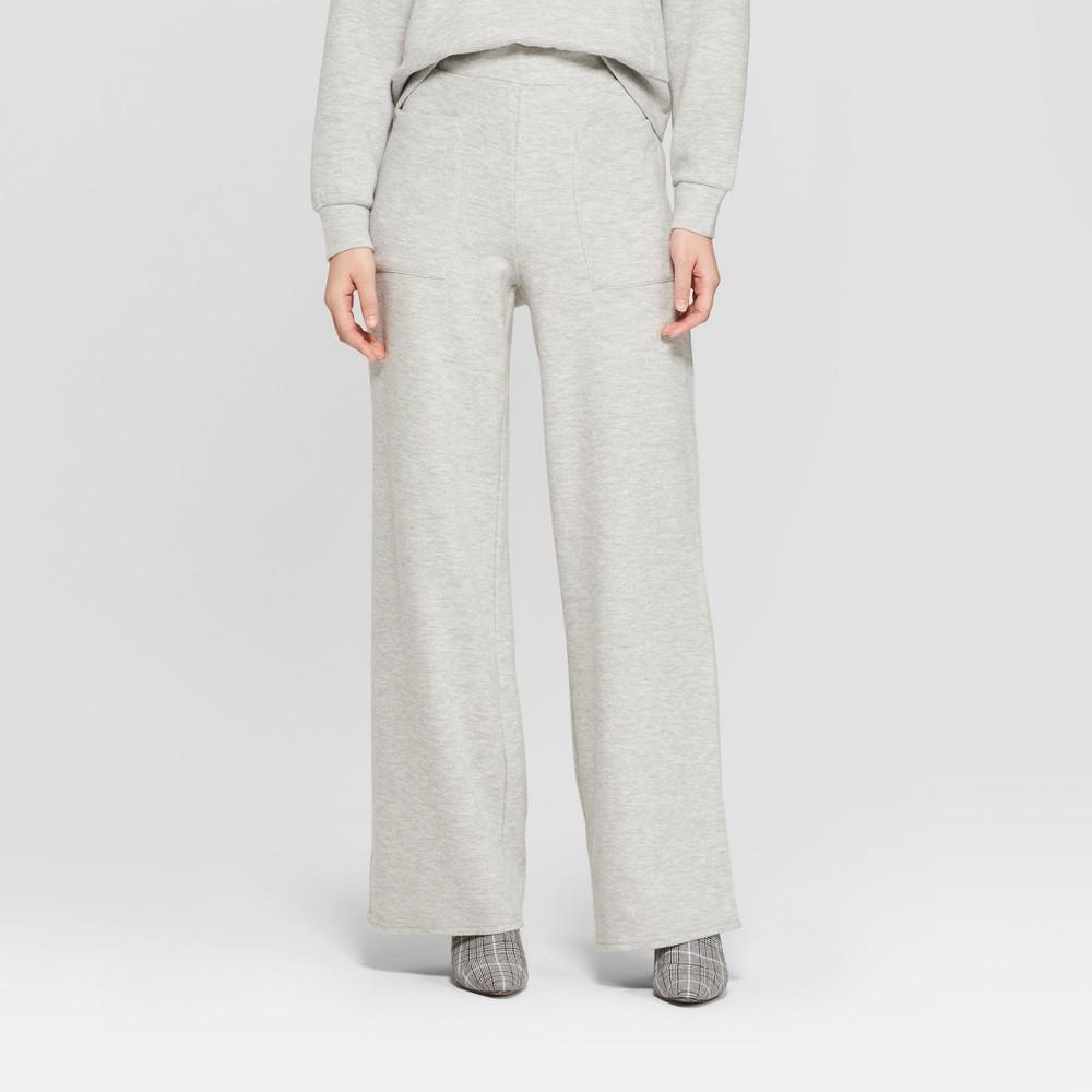 Women's Cozy Wide Leg Pants - Who What Wear Gray M