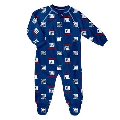 NFL New York Giants Baby Boys' Blanket Sleeper - 6-9M