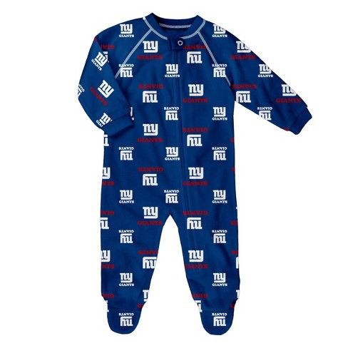 NFL New York Giants Baby Boys' Blanket Sleeper - image 1 of 1