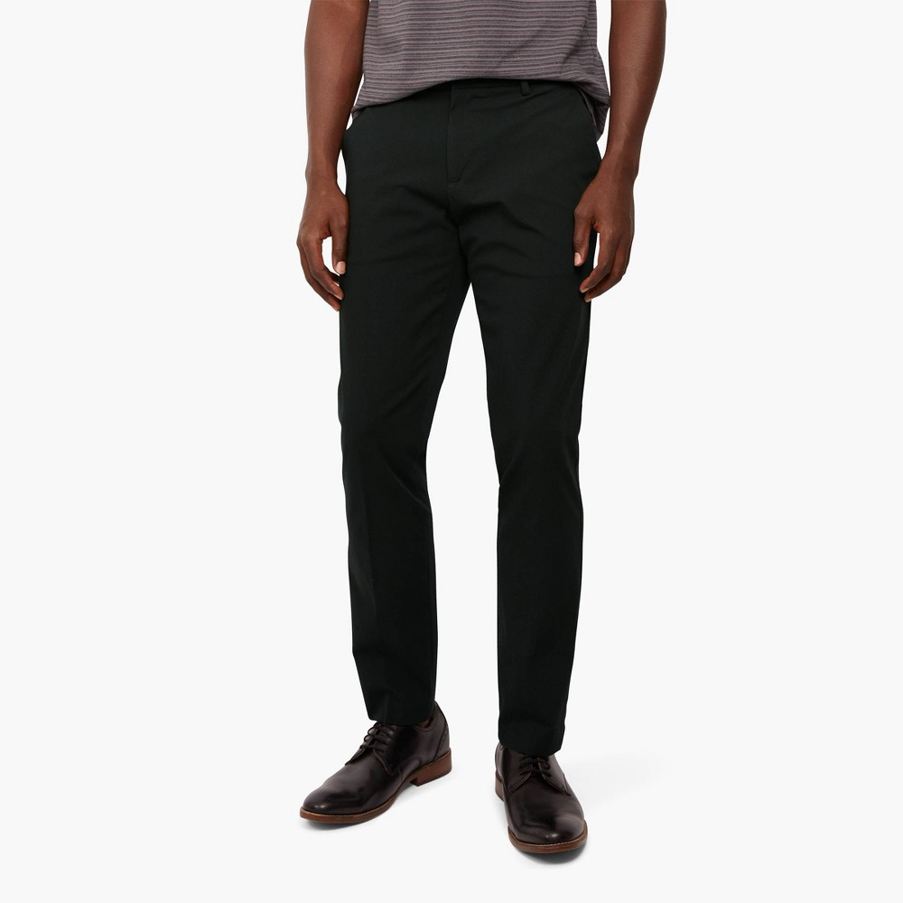 Dockers Men 39 S Slim Fit City Tech Trousers Black 29x32