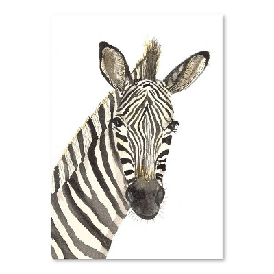 Americanflat Zebra by Cami Monet Poster