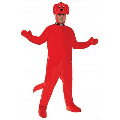Clifford Clifford The Big Red Dog Jumsuit Adult Costume