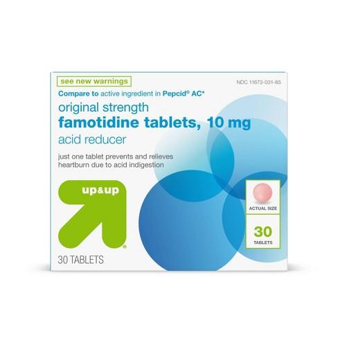 Famotidine 10mg Original Strength Acid Reducer Tablets - 30ct - up & up™ - image 1 of 4
