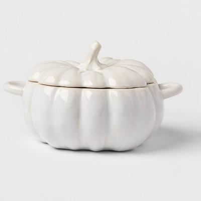 84oz Stoneware Pumpkin Serving Dish - Threshold™