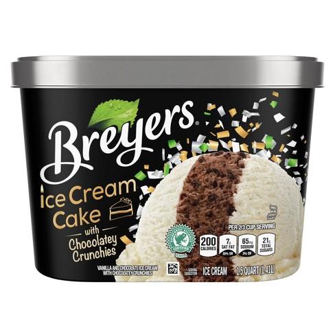 Swell Breyers Ice Cream Cake With Chocolatey Crunchies Ice Cream 48Oz Funny Birthday Cards Online Alyptdamsfinfo