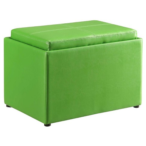 Storage Ottoman Green - Convenience Concepts - image 1 of 5
