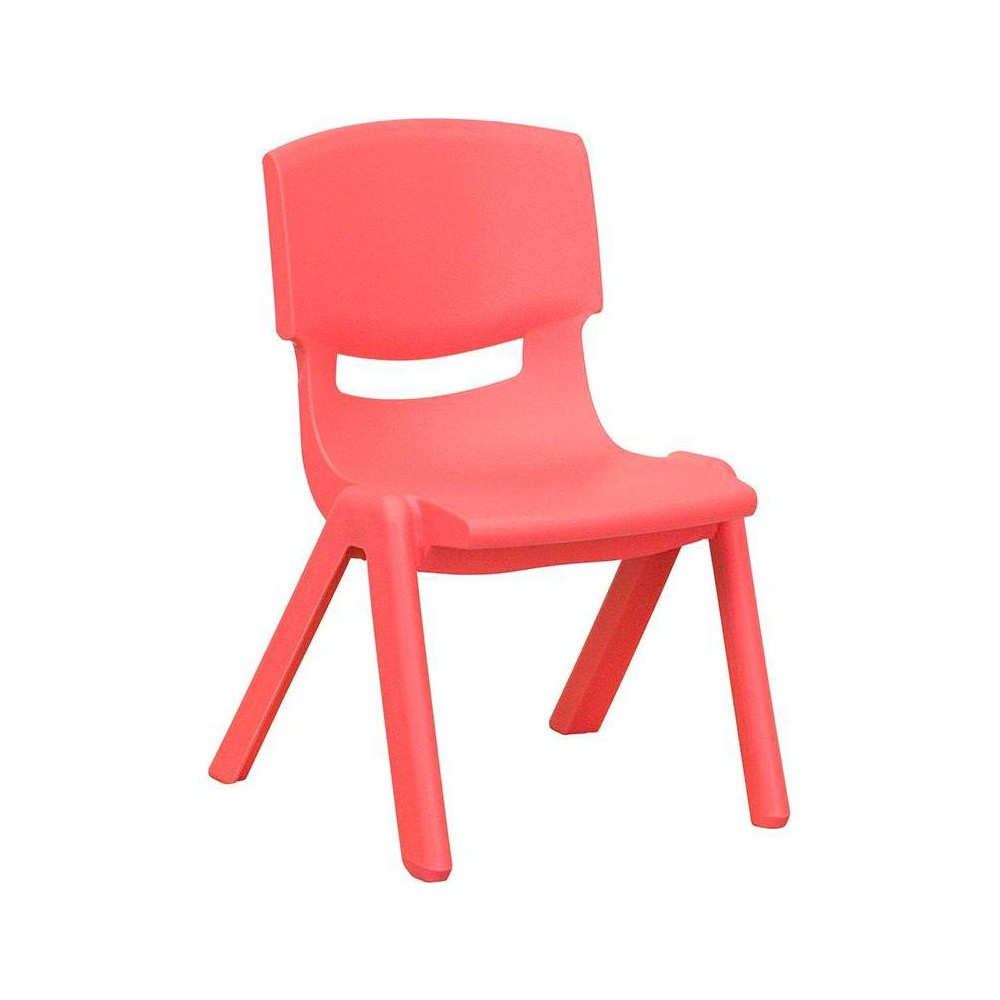 Image of Riverstone Furniture Collection Plastic Stack Chair Red
