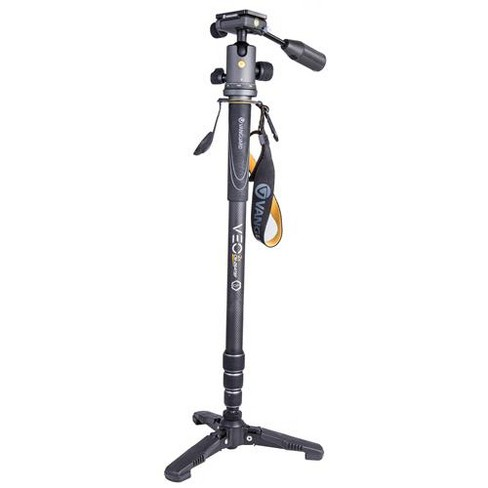 Vanguard VEO 2S CM-264TBP 4-in-1 Carbon Fiber Monopod with Tri-Feet and VEO 2 BP-120 Pan Handle Ball Head, 13.2 lbs Capacity, 67.8  Height, Black/Gray - image 1 of 4