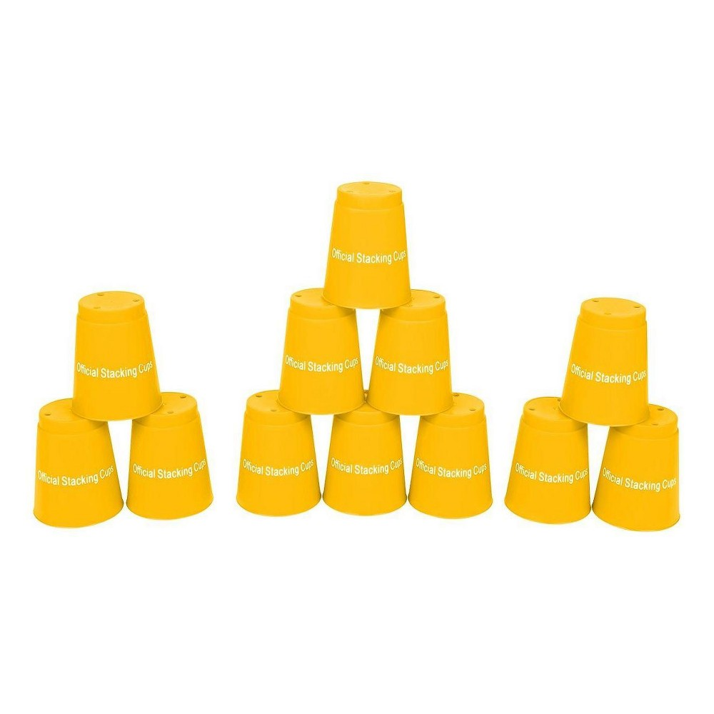 Trademark Innovations Quick Stack Cups - Yellow (Set of 12)