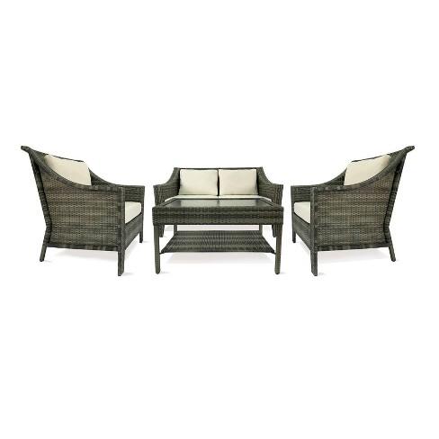 Rolston 4pc Patio Seating Set Gray