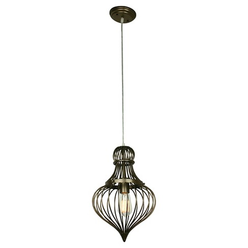 Clout Flytrap 1 Light Mini Pendant - New Bronze - image 1 of 2
