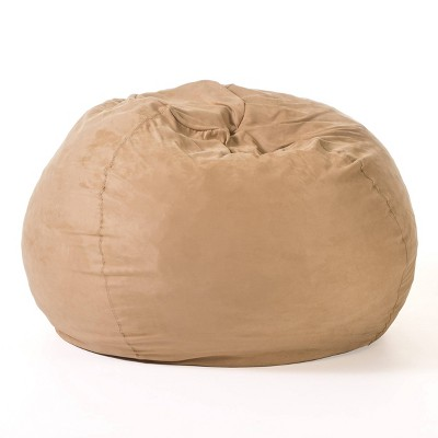 Christopher Knight Home Madison Faux Suede 5-Foot Beanbag - Camel