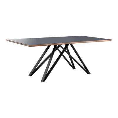 Seldovia Mid Century Dining Table Matte Black - Modern Home