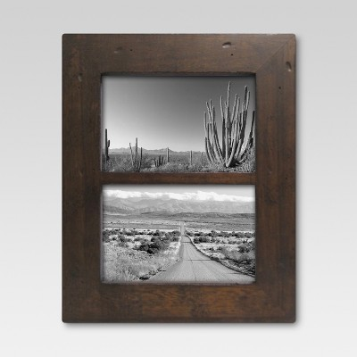 Rustic Wood Holds Two 4 x6  Frame - Threshold™