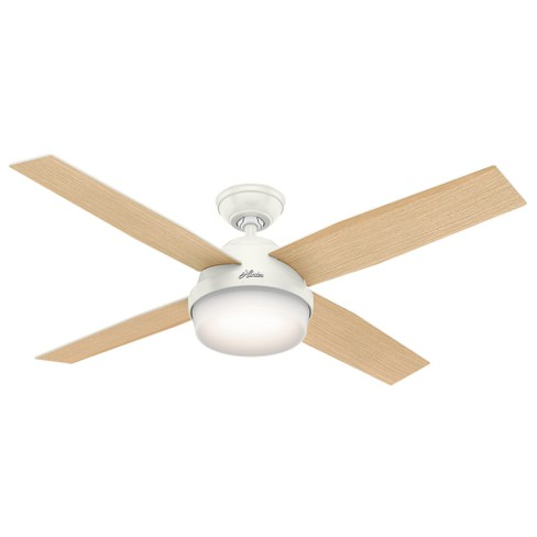 """52"""" Dempsey with Light Fresh White Ceiling Fan with Light with Handheld Remote - Hunter Fan - image 1 of 4"""