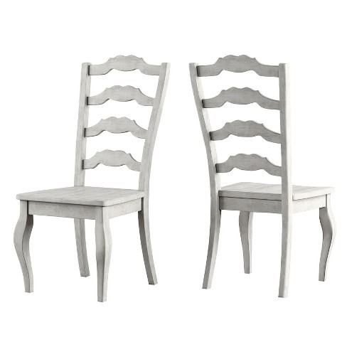 Wondrous South Hill French Ladder Back Dining Chair Set Of 2 Antique White Inspire Q Ibusinesslaw Wood Chair Design Ideas Ibusinesslaworg