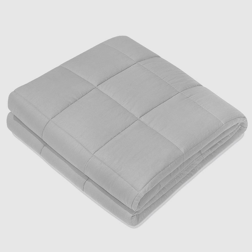 "Image of ""40"""" x 60"""" 100% Cotton Luxury 15lbs Weighted Blanket Light Gray - NEX"""