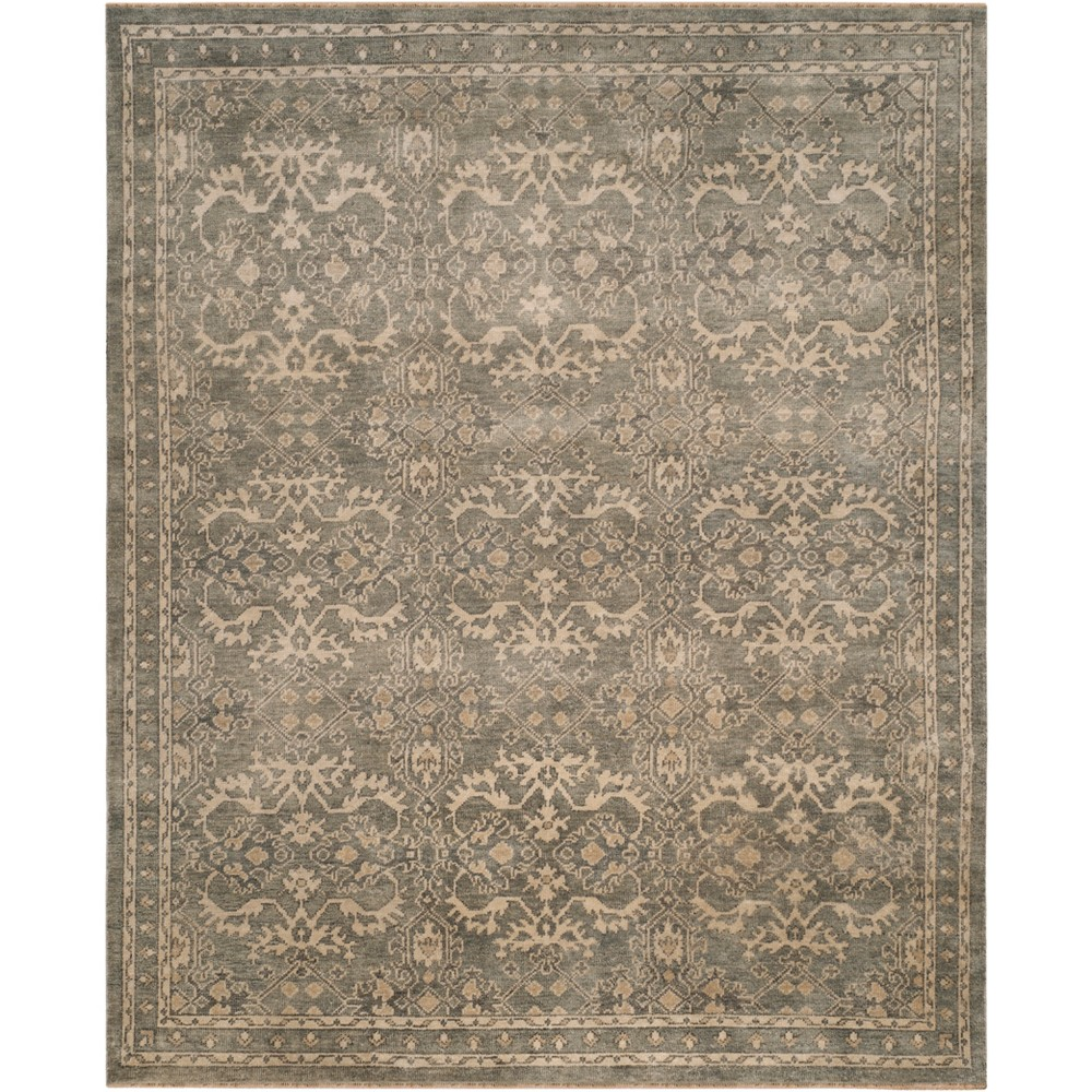 9'X12' Jacquard Knotted Area Rug Gray/Ivory - Safavieh