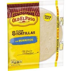 Old El Paso Flour Tortillas 8ct - 11oz