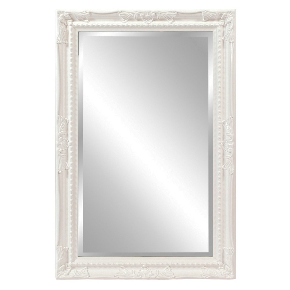 Image of Howard Elliott - Queen Ann Rectangular White Mirror