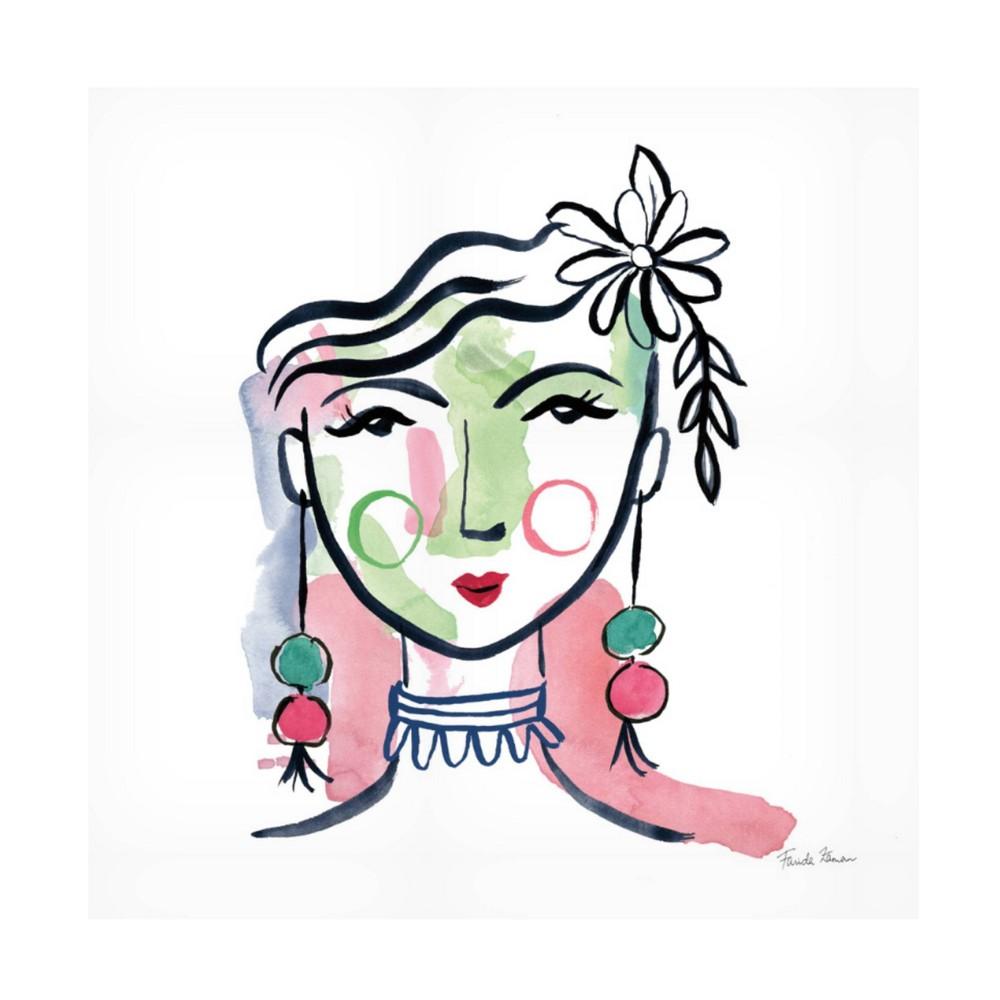 14 34 X 14 34 Farida Zaman 39 Pretty Faces I 39 Unframed Wall Canvas Trademark Fine Art