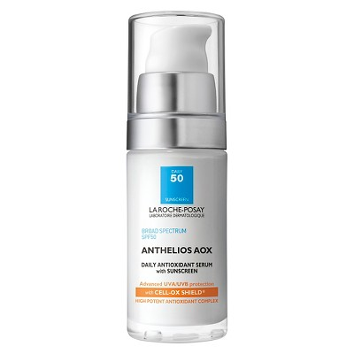 Facial Treatments: La Roche Posay Anthelios AOX Daily Antioxidant Face Serum with Sunscreen