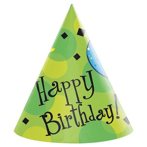 8ct Cake Celebration Party Hats Adult Size Target