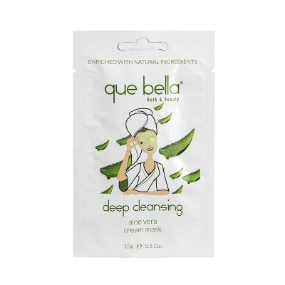 Que Bella Deep Cleansing Aloe Vera Cream Face Mask