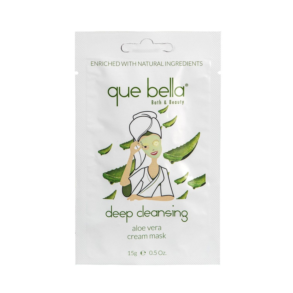 Image of Que Bella Deep Cleansing Aloe Vera Cream Face Mask - 0.5oz
