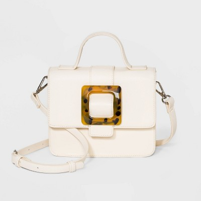 Snap Closure Crossbody Bag - Wild Fable™ Off White
