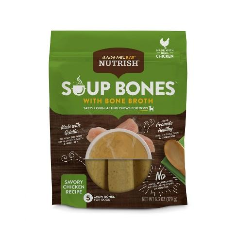 Rachael Ray Nutrish Soup Bones Bone Broth Small/Medium Chicken Dry Dental Dog Treats - 10.3oz - image 1 of 4