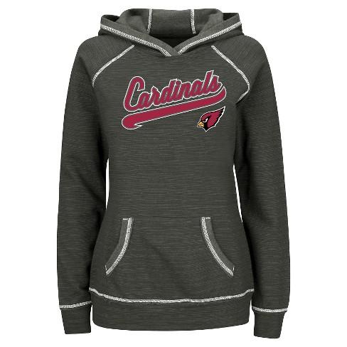 202512b3 Arizona Cardinals Women's Fleece Pullover Hoodie Sweatshirt L
