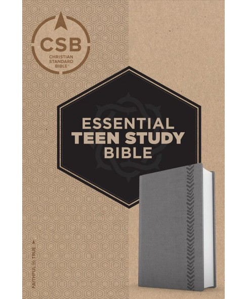 Essential Teen Study Bible : Christian Standard Bible, Gray Leathertouch (Paperback) - image 1 of 1