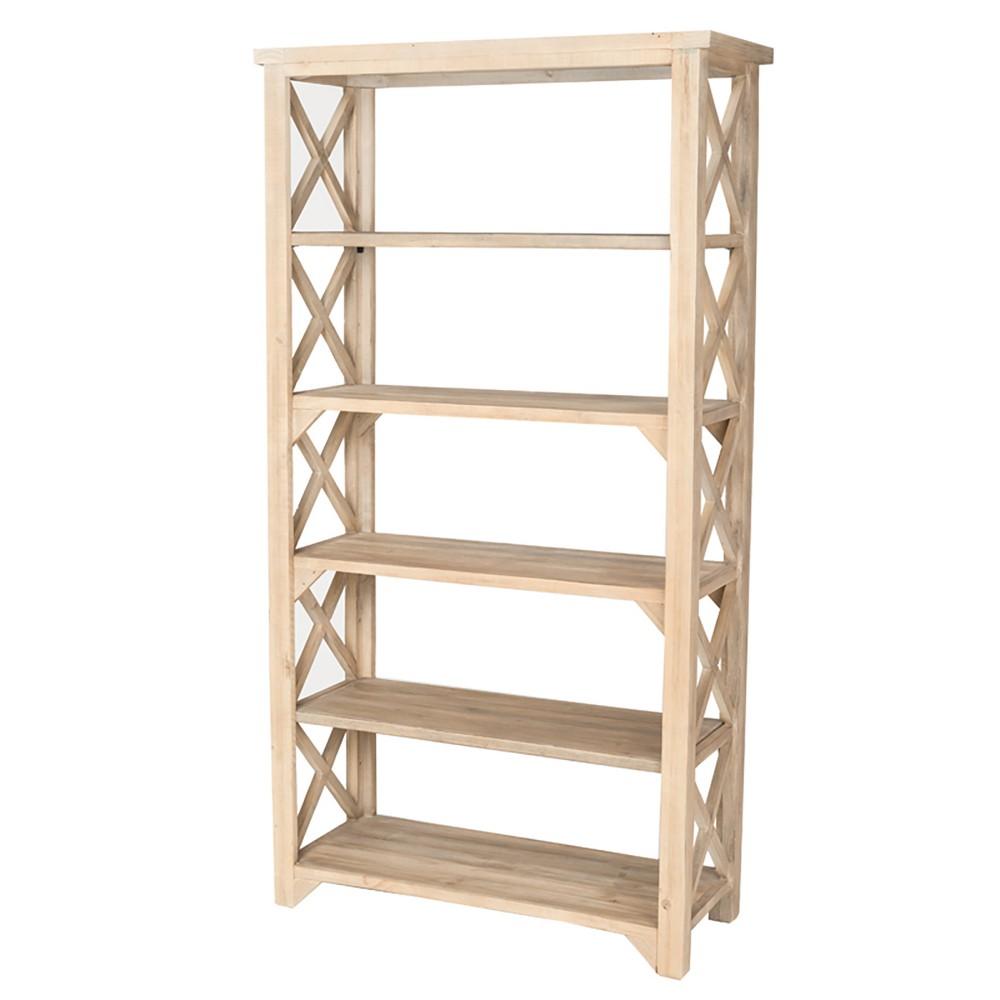 80 Tofino Recycled Pine Bookcase Dry Sand - Keswick