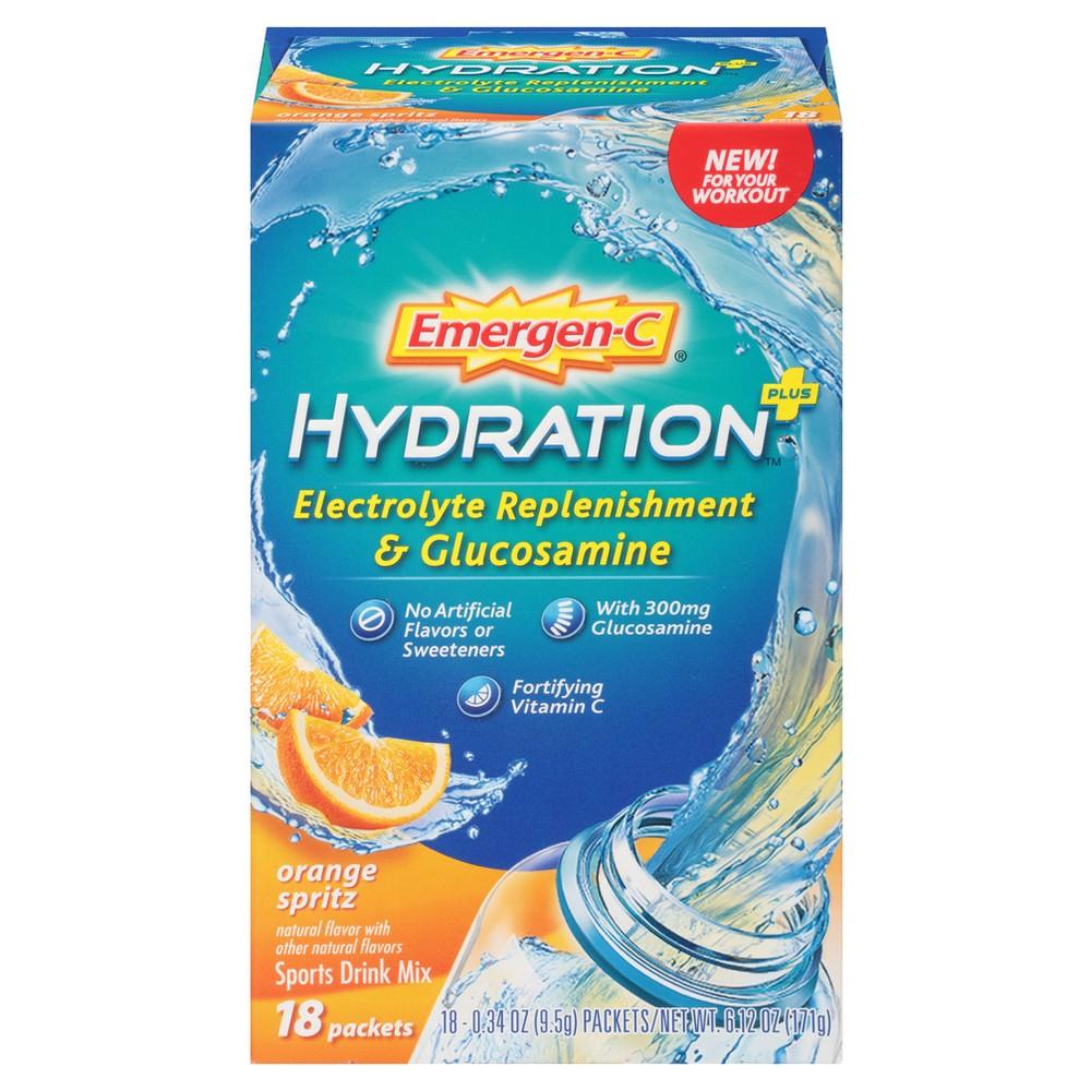 Emergen-C Hydration Dietary Supplement Drink Mix - Orange Spritz - 18ct