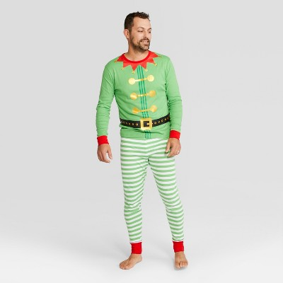 Men's Holiday Elf Pajama Set - Wondershop™ Green XL