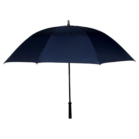 Vented Golf Manual Stick Umbrella - Navy Blue - image 1 of 1